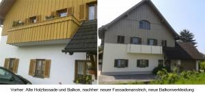 Rennovierung Balkon und Fassade