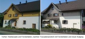 Rennovierung der Außenfassade eines Hauses